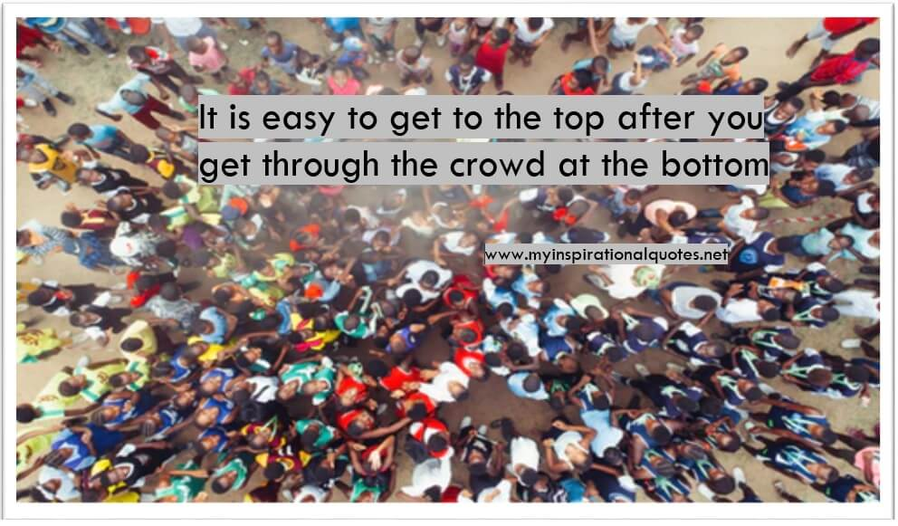Get through the crowd