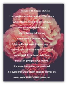 Prayer of St. Francis of Assissi