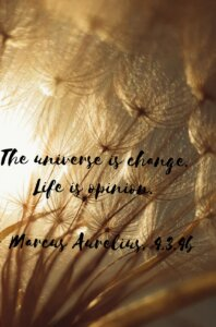 -The universe is change